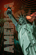 Engagement Digital Art Metal Prints - America Metal Print by Graphicsite Luzern