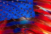 Red White And Blue Digital Art Prints - America Rising Print by David Lee Thompson