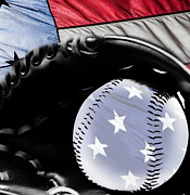 American Pastime Digital Art Posters - America the Beautiful Poster by Lj Lambert