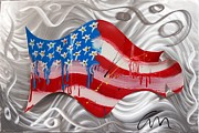 Bright Sculpture Metal Prints - America Wave - edition 3 Metal Print by Mac Worthington