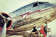 Vintage Air Planes Photos - American Airlines by AK Photography