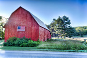 Pure Michigan Prints - American Barn Print by Sebastian Musial