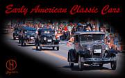 American Classic Cars Poster Print Print by Dapixara Art
