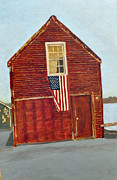 Old Barn Paintings - American Classic by Mary Byrom