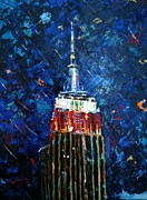 Empire State Building Paintings - American Cultural Icon by Helen Wendle