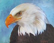 Patriotism Paintings - American Eagle by Cheri Wollenberg