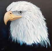American Eagle Paintings - American Eagle by Karen Underwood