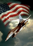 Air Force Print Art - American Feedom  by Gina Femrite