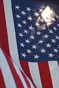 Happiness Metal Prints - American Flag - 01131 Metal Print by DC Photographer