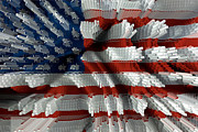 American Flag Abstract Print by Todd and candice Dailey