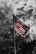 Patriot Photo Originals - American flag and time by Tommy Hammarsten