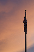 Flag Of Usa Prints - American Flag at Sunset Print by Stephanie McDowell