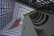 American Flag At The Jfk Library Print by Juergen Roth
