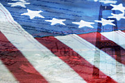 American Flag Print by Christina Rollo