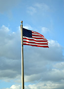 Prints Prints - American Flag Flying High Print by Alys Caviness-Gober