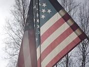American Flag Print by Jennifer Kimberly