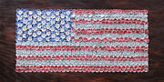 4th July Mixed Media Metal Prints - American Flag Metal Print by Kay Galloway