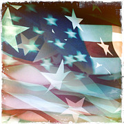 Celebrate Photos - American flag by Les Cunliffe