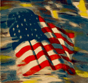 Navy Pastels - American Flag by Patrick McClellan