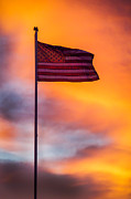 """blue Sunset"" Posters - American Flag Poster by Robert Bales"