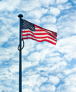 Collaboration Posters - American Flag Poster by Semmick Photo