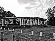 Arlington Virginia Digital Art Prints - AMERICAN Flag STILL STANDS Print by Angela Hodges Clay
