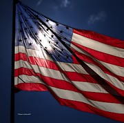 Flag Pole Digital Art - American Flag by Thomas Woolworth