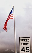 Sherry Gombert - American Flag with Speed...