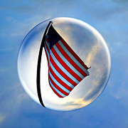 Low Angle View Originals - American FlagIn a Bubble by Amyn Nasser