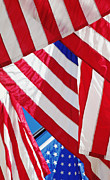 American Flag Colors Posters - American flags Poster by Nathan Griffith