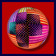 American Flags Orb Print by Tony Rubino