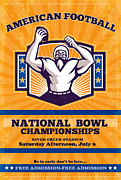 Ball Digital Art - American Football National Bowl Poster Art by Aloysius Patrimonio