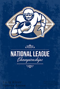 Ball Digital Art - American Football National League Championship Poster  by Aloysius Patrimonio