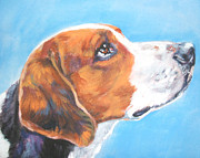 Foxhound Framed Prints - American Foxhound Framed Print by L A Shepard