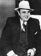 Enemies Photos - American Gangster Al Capone by Underwood Archives