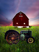 Crops Art - American Gothic by Debra and Dave Vanderlaan