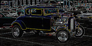 Deuce Coupe Framed Prints - American Graffiti  Neon Framed Print by Steve McKinzie