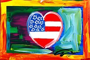 Challenging Painting Prints - American Heart Print by Mac Worthington