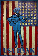 Drifter Framed Prints - American Hero - Hank Williams Framed Print by Richard Reeve