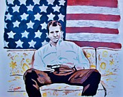 U S Flag Originals - American Hero by Jeremy Moore