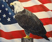American Eagle Paintings - American Icons by Leda Rabenold