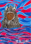 Spirit Buffalo Art Posters - American Indian Buffalo Poster by Sylvia Howarth