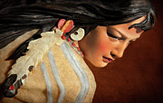 Young Girl Photo Posters - American Indian Squaw Poster by Jeffrey Campbell