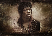 Jimi Hendrix Digital Art Originals - American Legend by Vince Dark