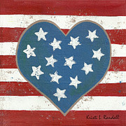 Police Art Painting Prints - American Love Print by Kristi L Randall