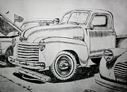 Chevrolet Truck Drawings - American Made by Stacy Bottoms