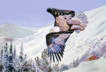 American Eagle Painting Posters - American Majesty  Poster by David Lloyd Glover