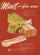 Featured Metal Prints - American Meat Institute 1950s Usa Bacon Metal Print by The Advertising Archives