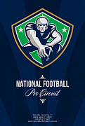 Ball Digital Art - American National Football Pro Circuit Poster by Aloysius Patrimonio