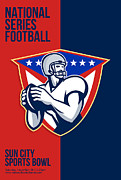 Ball Digital Art - American National Series Football Poster  by Aloysius Patrimonio